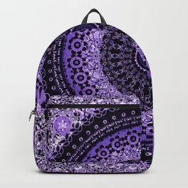 Purple Tapestry Mandala Backpack