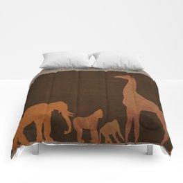 Brown Safari Jungle Zoo Animals Comforters
