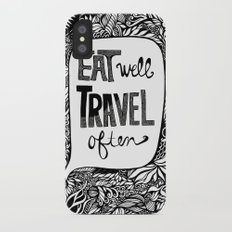 EAT WELL, TRAVEL OFTEN Slim Case iPhone X