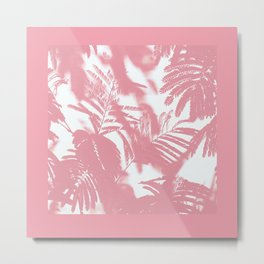 Pink palm trees Metal Print