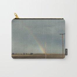 Rainbow above Nebraska field Carry-All Pouch