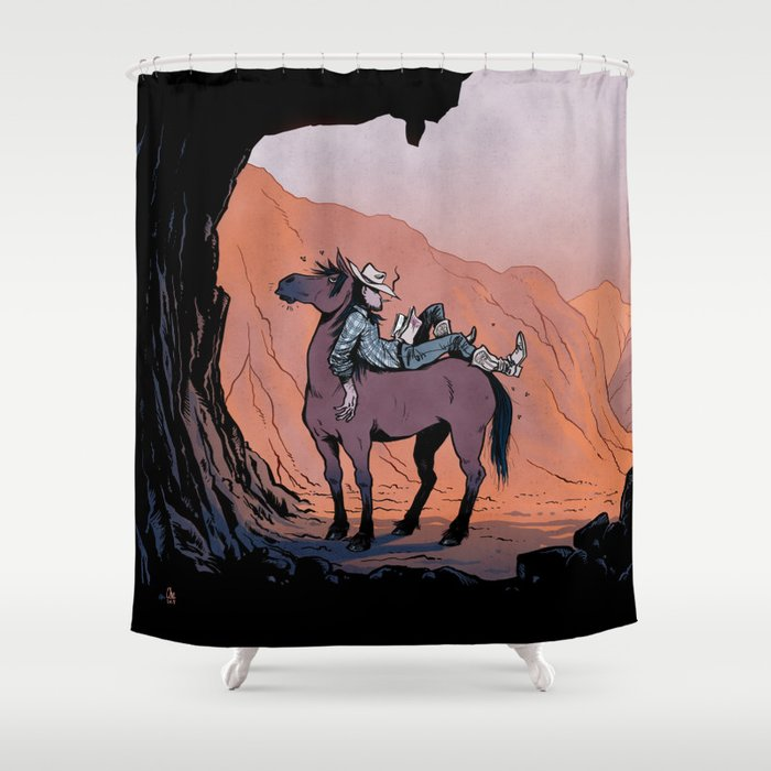 Reading Cowboy Shower Curtain