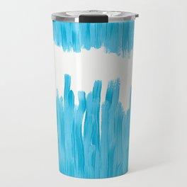 Sea of Blue Painted Travel Mug
