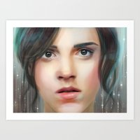 emma watson Art Prints featuring Emma Watson by taryndraws2