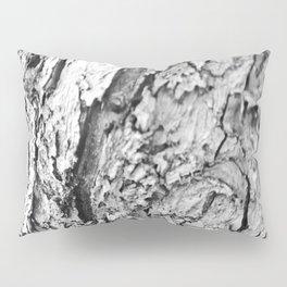 Tree Bark Black and White Pillow Sham