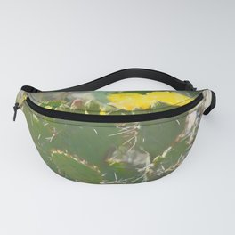 Cactus Flower Painting Fanny Pack