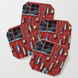 Red Wall Buoy Coaster