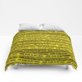 Crime scene / 3D render of endless crime scene tape Comforters