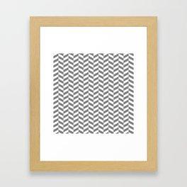 Gray Herringbone Pattern Framed Art Print