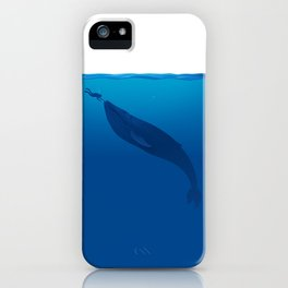 The Whale and a Human iPhone Case
