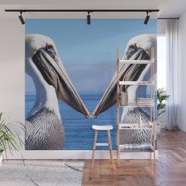 Pelican Pair Wall Mural