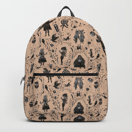 Creatures of the Night (orange) Backpack