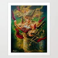 literary Art Prints featuring The Literary Device by Michael Pukac