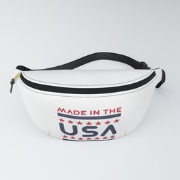 Patriotic American Made in the USA Proud American Gift Fanny Pack
