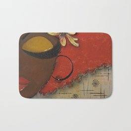 Chocolate Sassy Girl Bath Mat
