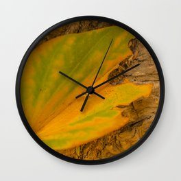 Yellow Leaf Wall Clock