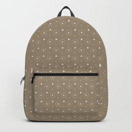 Pantone Hazelnut and white Polka Dots Circle Pattern Backpack