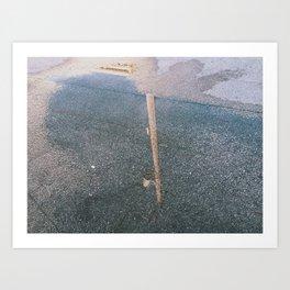 Wet Wired Art Print
