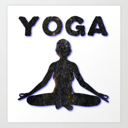 Yoga Meditating Female Art Print