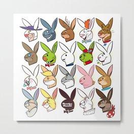 Famous Bunnies Metal Print