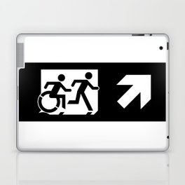 Wheelchair Disabled Exit Sign, with Accessible Means of Egress Icon Laptop & iPad Skin