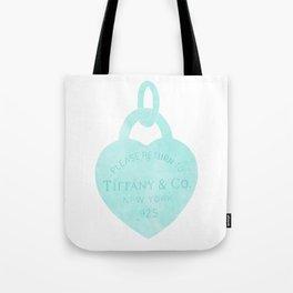 Tiffany heart locket charm Tote Bag