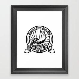 Rooster's Fresh Eggs Logo Framed Art Print