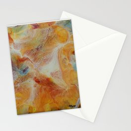 Abstract Iris by Michelle R. Acker Stationery Cards