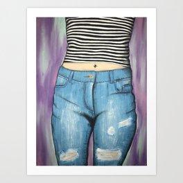 Tummy Top & Denim Art Print