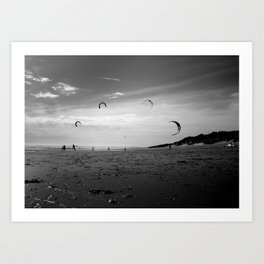 """KITE RAY"" kitesurf . kite . surf Art Print"