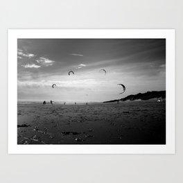 """""""KITE RAY"""" kitesurf . kite . surf Art Print"""
