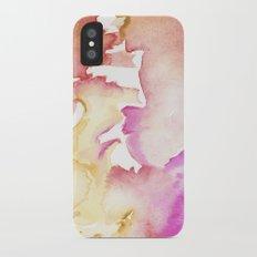 pink wash iPhone X Slim Case