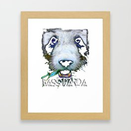 Electric Bass Panda Framed Art Print