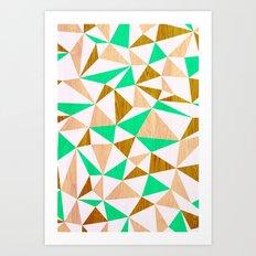 Triangle wood Art Print