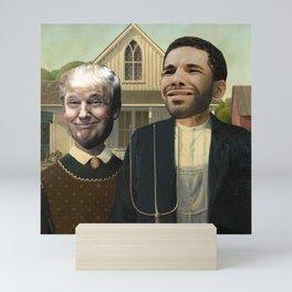 American Gothic - Trump & Drake - Grant Wood Mini Art Print