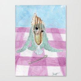Pistache Vanille Canvas Print