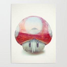 Mushroom - Kart Art Poster