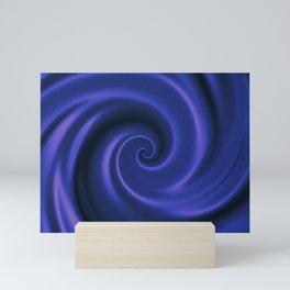 Endless revolving spiral with hypnotic effect. Mini Art Print
