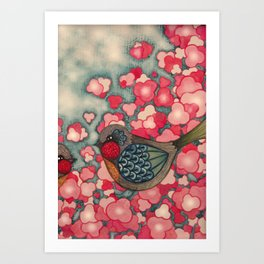 Blossom Birds Art Print