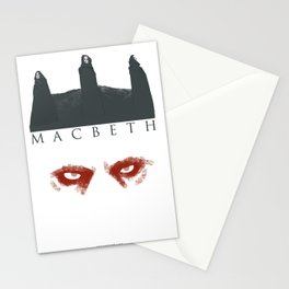 Macbeth poster Stationery Cards