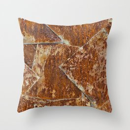 Abstract rusty background Throw Pillow