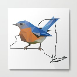 New York – Eastern Bluebird Metal Print