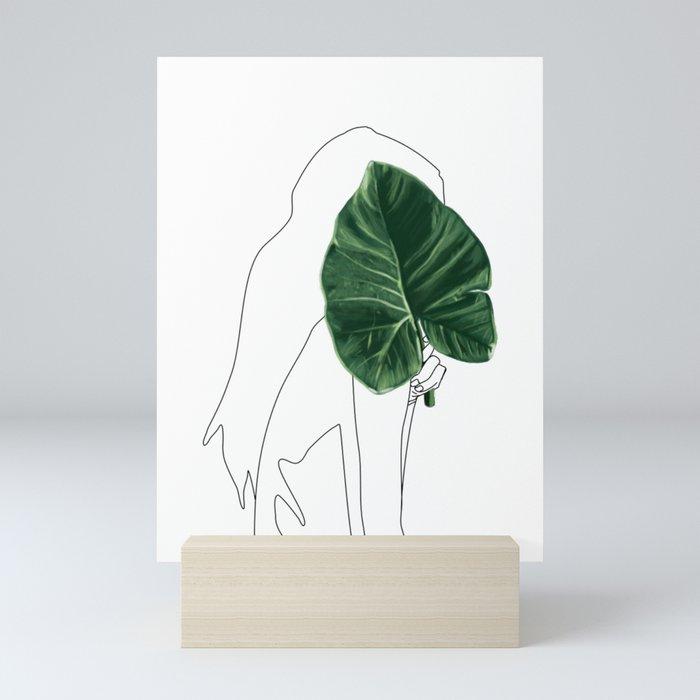 Minimal portrait Mini Art Print