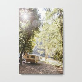 Camping Under the Trees Metal Print