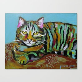 Gold Eyed Cat Canvas Print