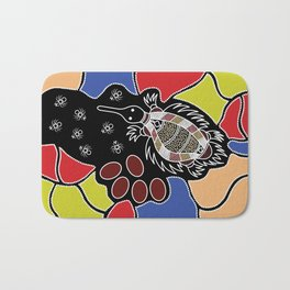 Authentic Aboriginal Art – Echidna Dreaming Bath Mat