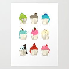 Cup-Cat Flavors Art Print