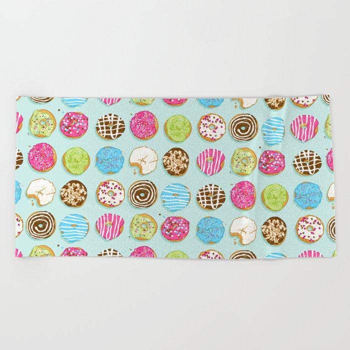Sweet donuts Beach Towel