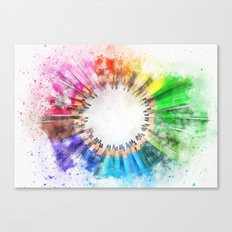 Rainbow Pencils Canvas Print