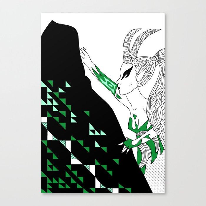 Capricorn / 12 Signs of the Zodiac Canvas Print